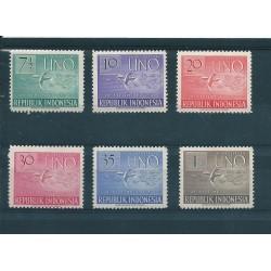 1951 INDONESIA REPUBBLICA  ANNIVERSARIO ONU YV N 47- 52 SEI VAL.  MNH  MF16798