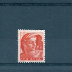 1961 ITALIA L 10  MICHELANGIOLESCA VARIETA TAGLIO CHIRURGICO MF16828