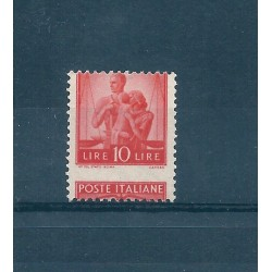 1945  REPUBBLICA L 10 ARANCIO DEMOCRATICA VARIETA DENT SPOSTATA MNHMF16830