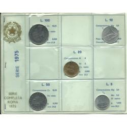 1975 REPUBBLICA ITALIANA DIVISIONALE  ANNO 1975  5 MONETE FDC MF23696