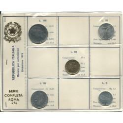 1976 REPUBBLICA ITALIANA DIVISIONALE  ANNO 1976  5 MONETE FDC MF23695