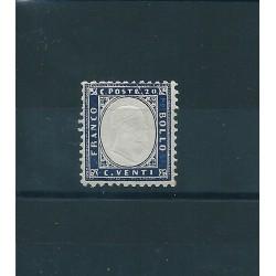 1862 REGNO VITTORIO EMANUELE II 20 c  INDACO  MNH MF16872