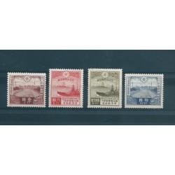 1935 GIAPPONE JAPAN  VISITA IMPERATORE MANCIURO  4 VALORI MLH MF16929