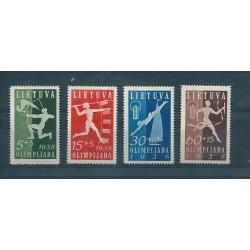 1938 LITUANIA LIETUVA JAMBOREE NAZIONALE 4 VAL MLH  MF16941
