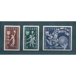 1939 LITUANIA LIETUVA CAMPIONATI EUROPEI DI BASKET 3 VAL MLH  MF16910
