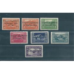 1925 ALBANIA SHQIPTARE 7 VALORI NUOVI MNH UNIF  N 104 -10 MF16990