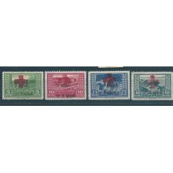 1924 ALBANIA SHQIPTARE  CROCE ROSSA SECONDA  SERIE 4 VAL MLH UNIF  N 100-103 MF16983