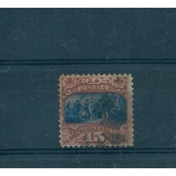 1869 STATI UNITI USA  15 c  BRUNO  AZZURRO STORIA AMERICANA UNIF N 39 USATO A DIENA MF16951