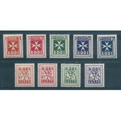 1934 EGEO SERIE SEGNATASSE SOGGETTI VARI 9 VAL NUOVI MLH MF17006