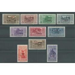 1932 ISOLE EGEO PISCOPI SERIE GARIBALDI 10 VALORI NUOVI MNH MF23539