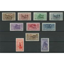 1932 ISOLE EGEO CALINO SERIE GARIBALDI 10 VALORI NUOVI MNH MF23531