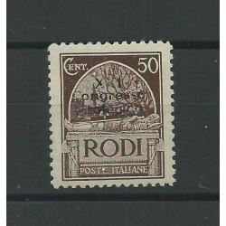 1930 ISOLE EGEO XXI CONGRESSO IDROLOGICO 50 CENT BRUNO 1 VAL MLH RAYBAUDI MF23545