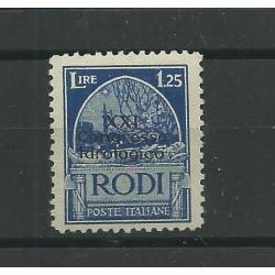 1930 ISOLE EGEO XXI CONGRESSO IDROLOGICO 1 25 L AZZURRO 1 V MLH RAYBAUDI MF23550