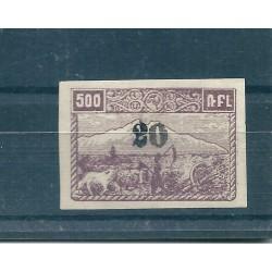 1923 ARMENIA  SOPRASTAMPA A MANO 20K SU 500R  UNIF N 161 UN VAL NUOVO  MLH CAFFAZ  MF17050