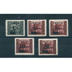 1945 LITORALE SLOVENO OCCUPAZIONE JUGOSLAVA SEGNATASSE 5 VAL MNH SASS N 1-5 MF17048