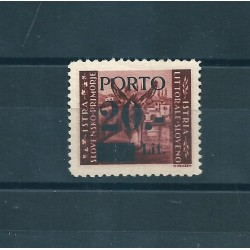 1945 LITORALE SLOVENO OCCUPAZIONE JUGOSLAVA SEGNATASSE 1 VAL MLH SASS N 5 MF17053