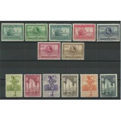 1929 SPAGNA ESPANA ESPOSIZIONE DI SIVIGLIA E BARCELLONA 13 VALORI MNH MF23580
