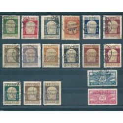 1921 FIUME  EFFIGIE D ANNUNZIO  GOVERNO PROVVISORIO SASS N 149-163 EX  17  VAL USATI  MF17075