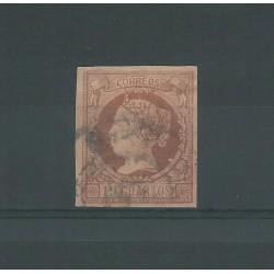 1860  SPAGNA ESPANA EFFIGIE ISABELLA II VOLTA A SINISTRA 19 CUARTOS - N 50 -  USATO MF23587