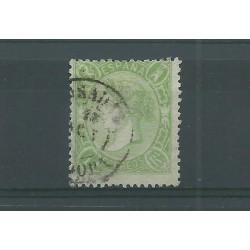 1865 SPAGNA ESPANA ISABELLA II 1 REAL VERDE N 76 - 1 VAL USATO MF23588