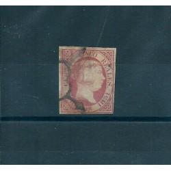 1851 SPAGNA ESPANA ISABELLA II 5 REALES ROSA - N 9 - 1 VAL USATO MF17081