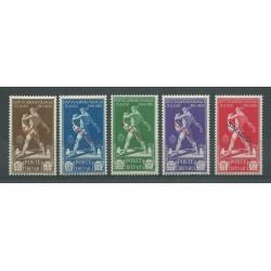 1930 CIRENAICA SERIE ISTITUTO AGRICOLO SAGGIO 5 VALORI NUOVI MNH CAFFAZ MF23604