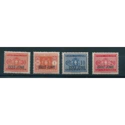 1941 ISOLE JONIE SEGNATASSE SOPRASTAMPATA 4 V MNH MF17087