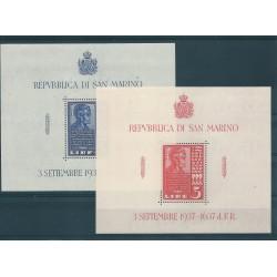 1937 SAN MARINO LINCON 2 FOGLIETTI  MNH MF17111