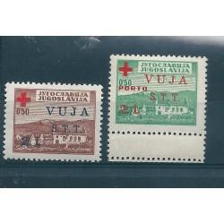 1948 TRIESTE B STT - VUJNA SERIE PRO CROCE ROSSA  2 VALORI NUOVI MNH  MF17216
