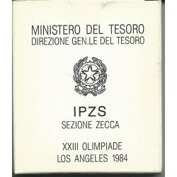1984 REPUBBLICA ITALIANA L 500 OLIMPIADE LOS ANGELS FDC CONFEZ ZECCA MF23809