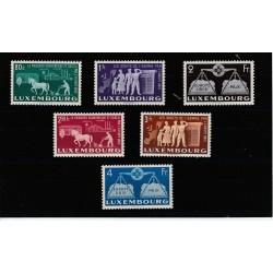 1951 LUSSEMBURGO SERIE CONSIGLIO D EUROPA UNIF N  443-448 6 V MNH MF17482