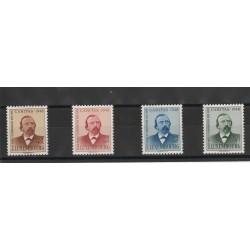 1948 LUSSEMBURGO CARITAS DICKS POETA UNIF N 410-413 - 6 VAl  MNH MF17471