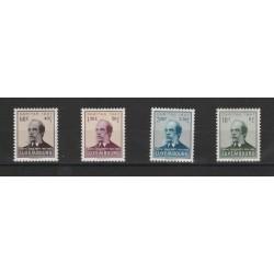 1947 LUSSEMBURGO CARITAS LENTZ POETA UNIF N 402-405 - 4 VAL MNH MF17470