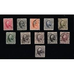 1891-93 LUSSEMBURGO GRAN DUCA ADOLFO 10 VAL USATI MF17468
