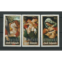 COOK ISLANDS AITUTAKI 1972 NATALE 3 V - YV N 42/44 MNH MF23840