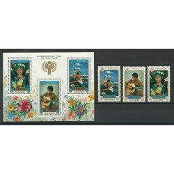 COOK ISLANDS AITUTAKI 1979 YEAR CHILD 3 V E 1 BF - YV N 236-38 BF 26 MNH MF23843