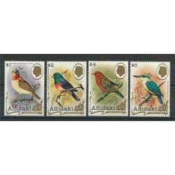 COOK ISLANDS AITUTAKI 1982  UCCELLI BIRDS 4 V - YV N 316-17 326-27 MNH MF23846