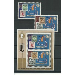 COOK ISLANDS AITUTAKI 1974 100 UPU 2 V- 1 BF - YV N 113-14 BF 2 MNH MF23848