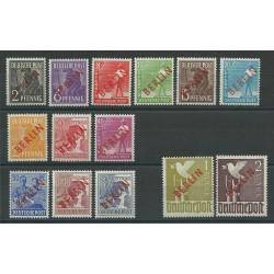 1949 BERLINO BERLIN SOPRASTAMPA ROSSA 14 V MNH E DIENA MF23962