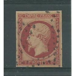 1853 FRANCIA II IMPERO NAPOLEONE III 1 F CARMINIO UNIF N 18 USATO DIENA MF23955