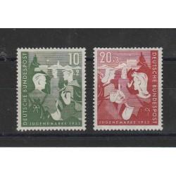 1952 GERMANIA FEDERALE OPERE PER LA GIOVENTU  2 VAL MLH MF17742