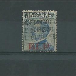 1921 REGNO BLP 25 CENT AZZURRO SASSONE N 3 USATO FTO CAFFAZ MF23948