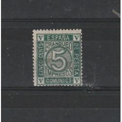 1822 SPAGNA ESPANA  CIFRA  UNIFICATO N 116 MLH MF17782
