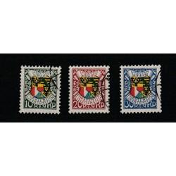 1927 LIECHTENSTEIN 87 COMPLEANNO PRINCIPE GIOVANNI II 3 VAL USATI  MF17807