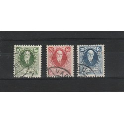 1925 LIECHTENSTEIN 85 COMPLEANNO PRINCIPE GIOVANNI II 3 VAL USATI MF 17790