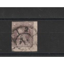 1860  SPAGNA ESPANA EFFIGIE ISABELLA II VOLTA A SINISTRA 2 REAL  - N 52  USATO MF17865