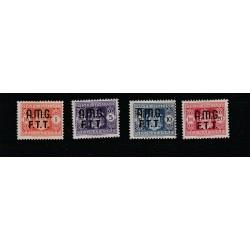 1947 TRIESTE A SEGNATASSE SERIE 4 VALORI NUOVI MLH MF17916