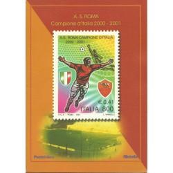 2001 REPUBBLICA ITALIANA FOLDER ROMA CAMPIONE ITALIA 2000-2001 MF24092