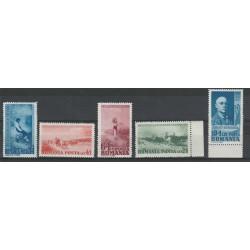 1938 ROMANIA  GRIGORESCU UNIF N 564/568  MNH MF17966
