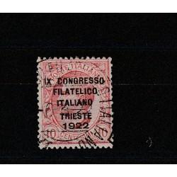 1922 REGNO 10 C BRUNO CONGRESSO FILATELICO USATO GARANTITO  MF18058